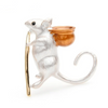 White Mouse Brooch | Brooch Paradise
