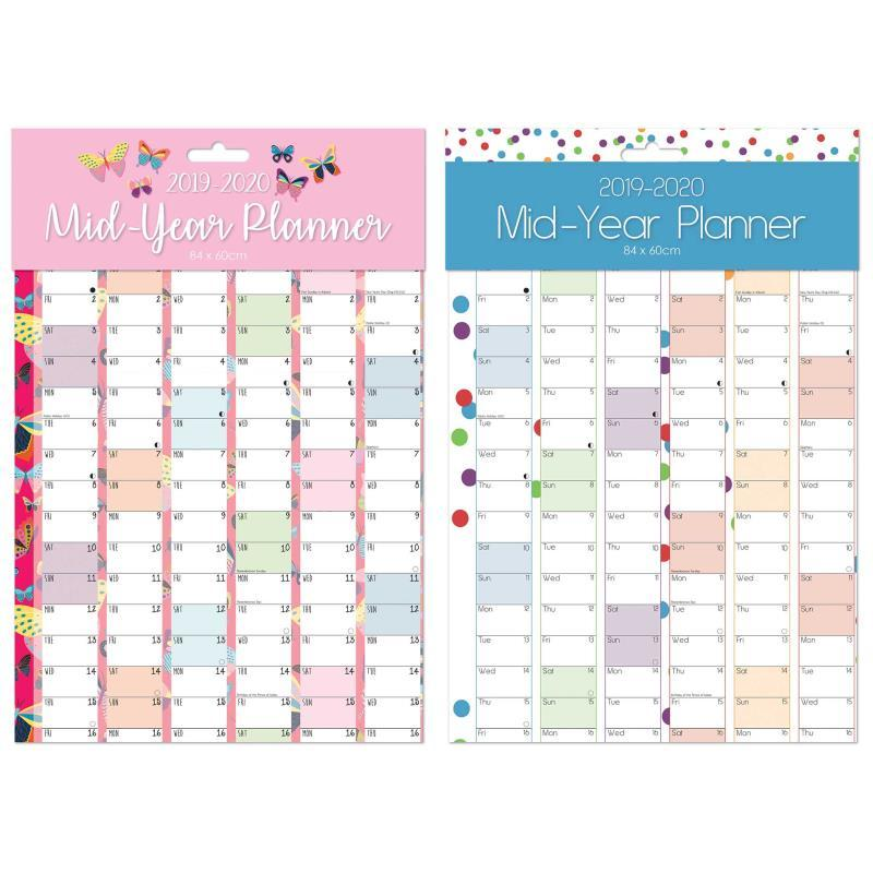 2019 2020 Large A1 Academic Mid Year Wall Planner