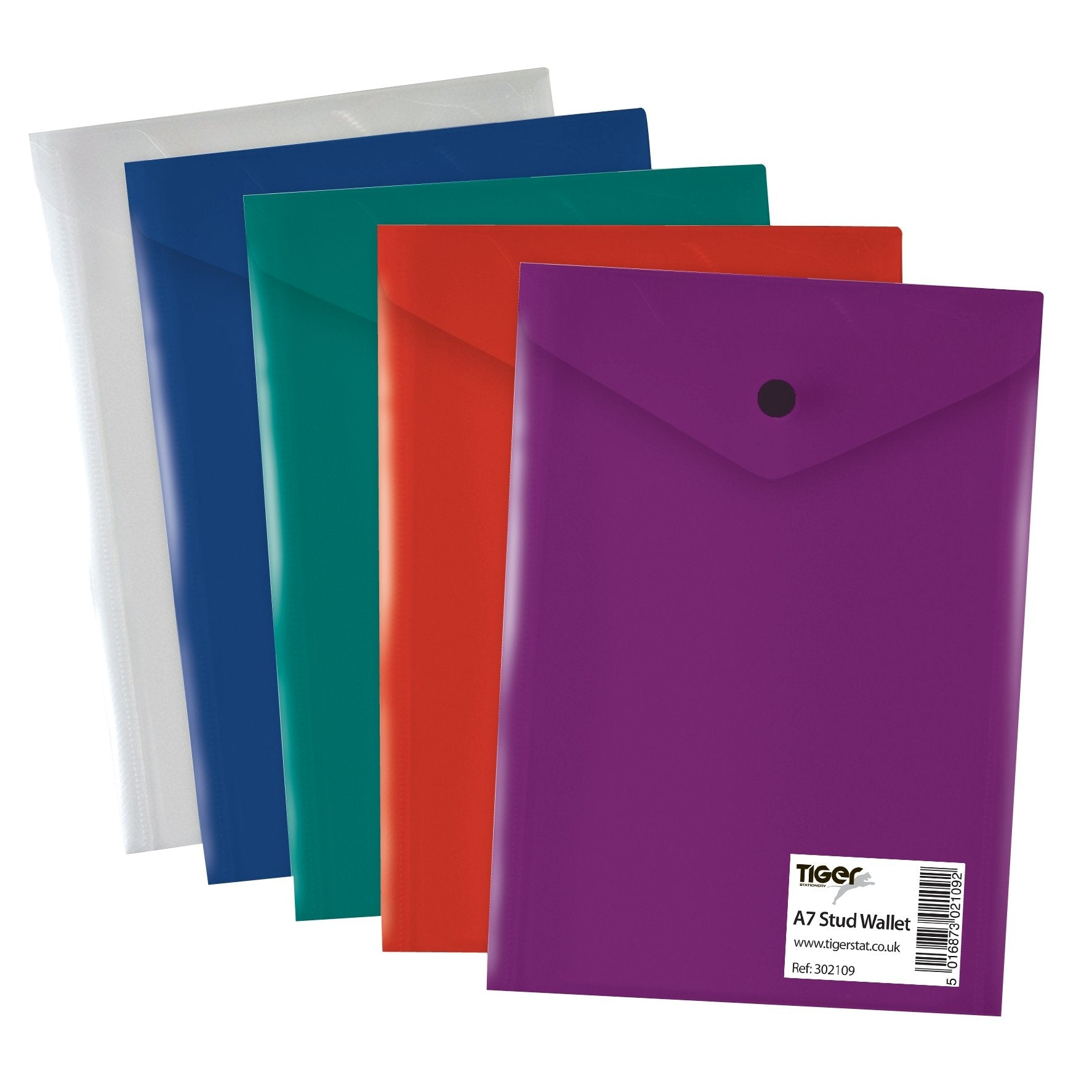 50 x A7 Document Wallets Assorted Colours