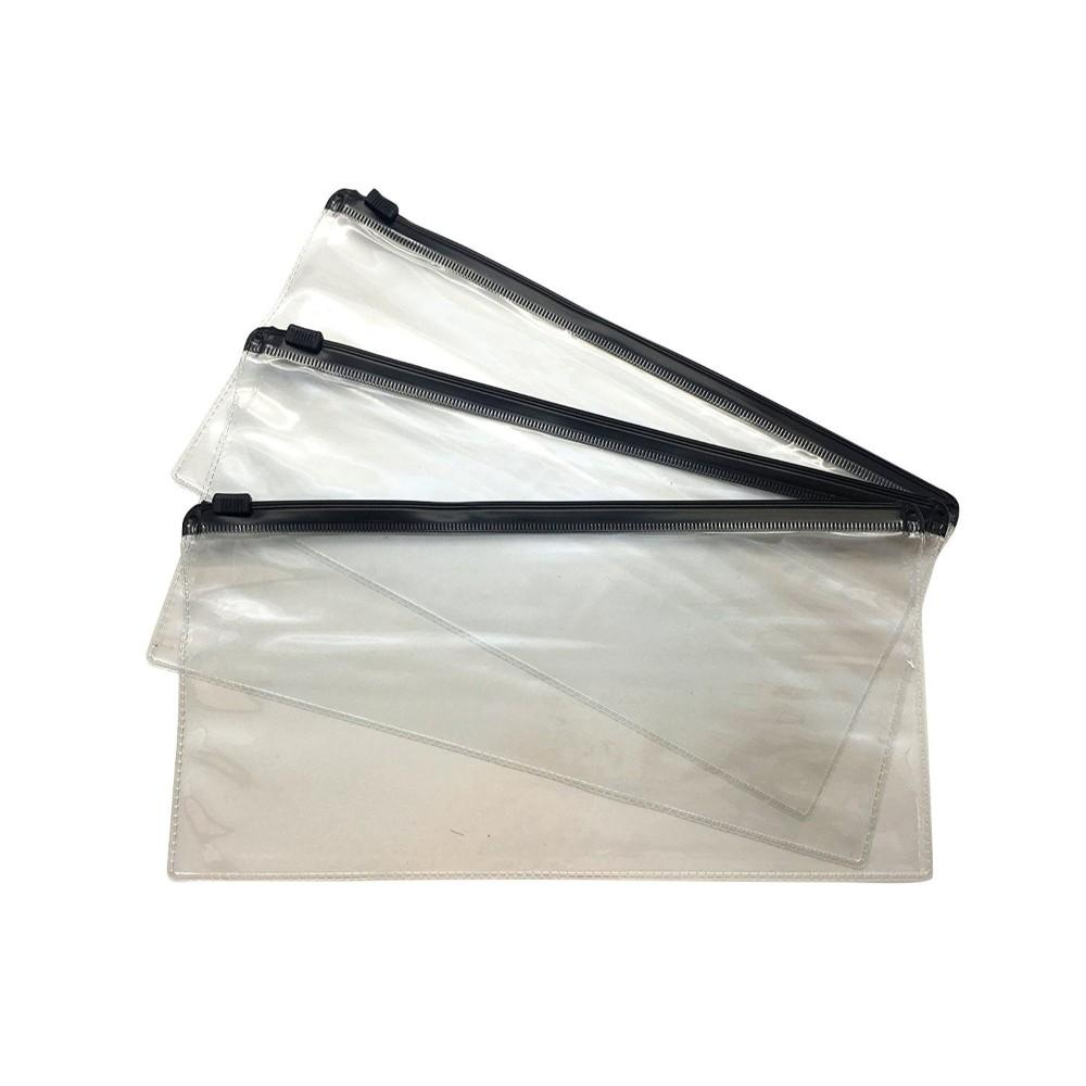 Pack of 12 DL Black Zip Zippy Bags
