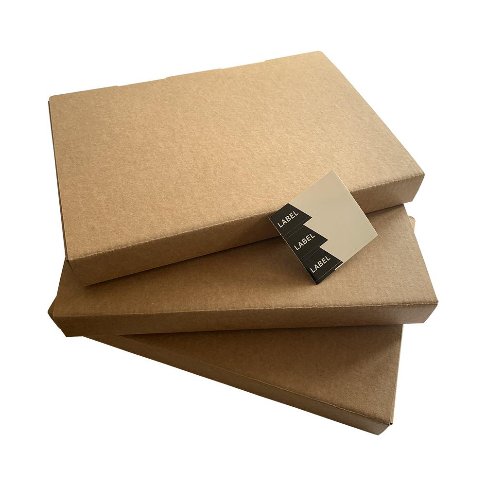 Pack of 3 A4 Kraft Box Files 3.5cm Depth