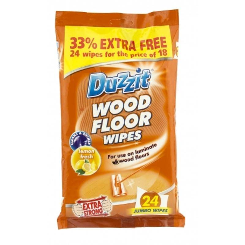 Duzzit Wood Floor Wipes (18 Pack)