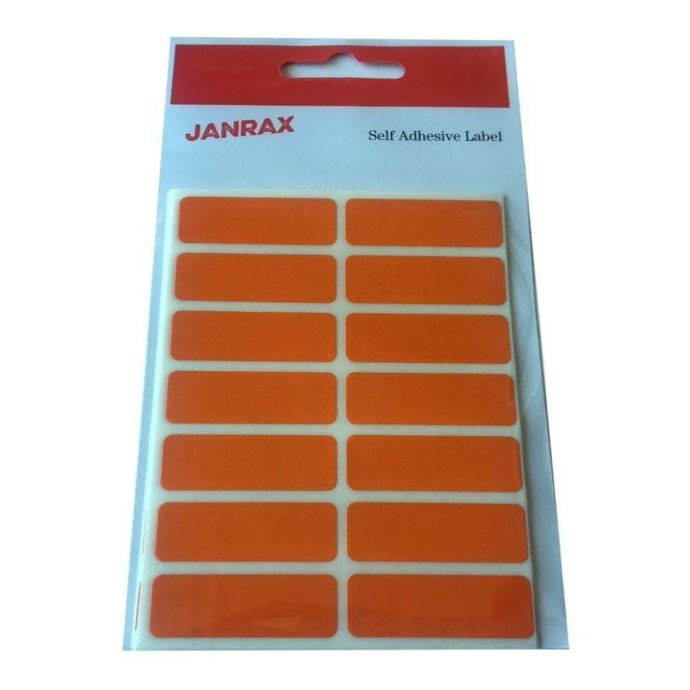 Pack of 98 Orange 12x38mm Rectangular Labels - Adhesive Stickers