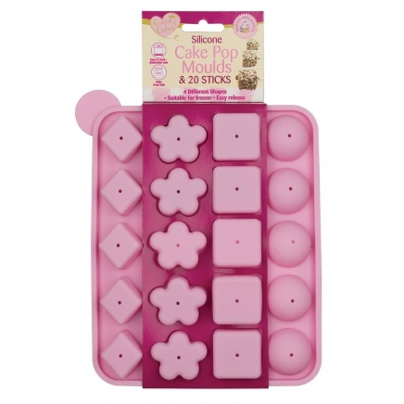Silicone Cake Pop Moulds & 20 Sticks