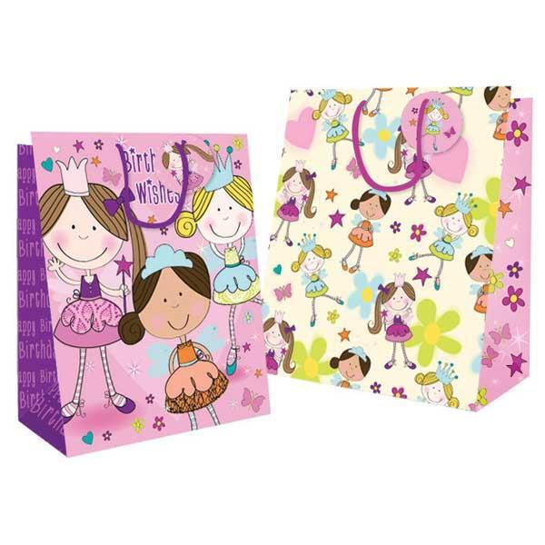 Pack of 12 Large Fairy Design Gift Bag