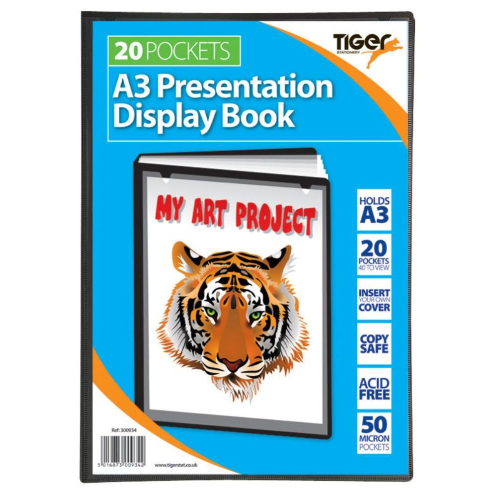 Tiger A3 20 Pocket Presentation Display Book