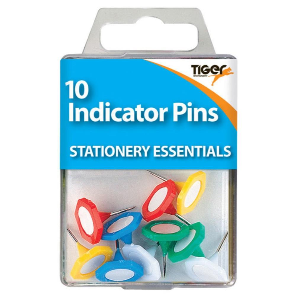 Pack of 10 Coloured Indicator Pins