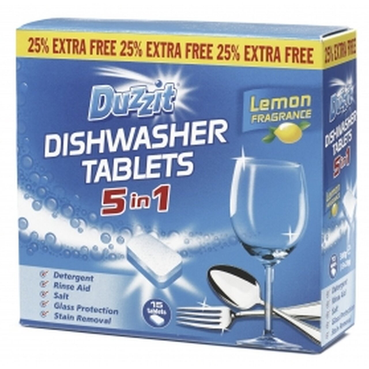 Duzzit 5in1 Dishwasher Tablets (15 Pack)