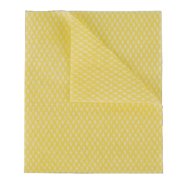2Work Economy Cloth 420x350mm Yellow (Pack of 50) 104420YELLOW