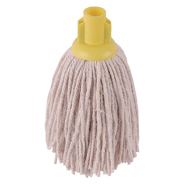 2Work PY Smooth Socket Mop 14oz Yellow (Pack of 10) 103178Y