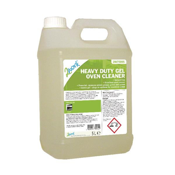 2Work Heavy Duty Gel Oven Cleaner Liquid Gel 5 Litre 2W75995