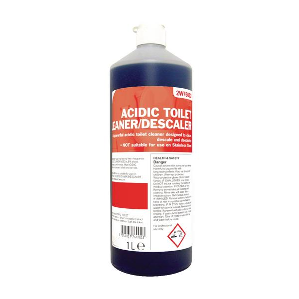 2Work Acidic Descaling Toilet Cleaner 1 Litre 2W76002