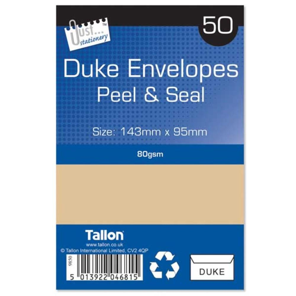 50 Duke Manila Peel & Seal Envelopes