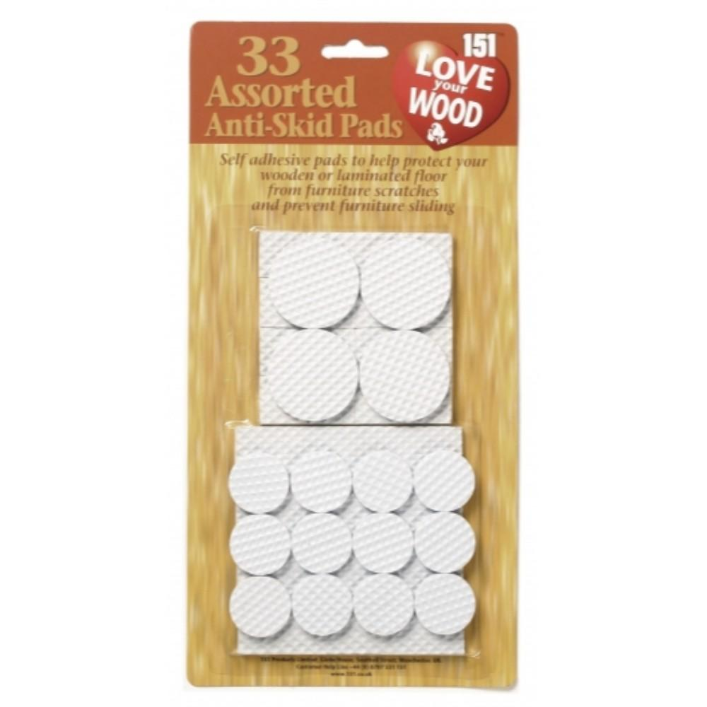 Assorted Anti- Skid Pads (33 Pack)