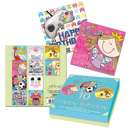 10 Kids Birthday Cards Box
