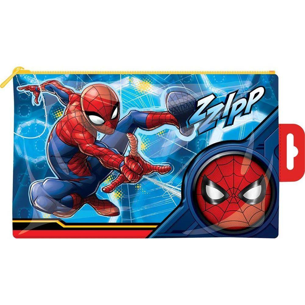 Spiderman Flat PVC Pencil Case