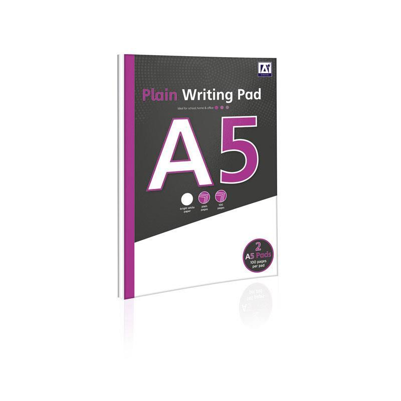 Pack of 2 A5 Plain Writing Pad 60 Sheets