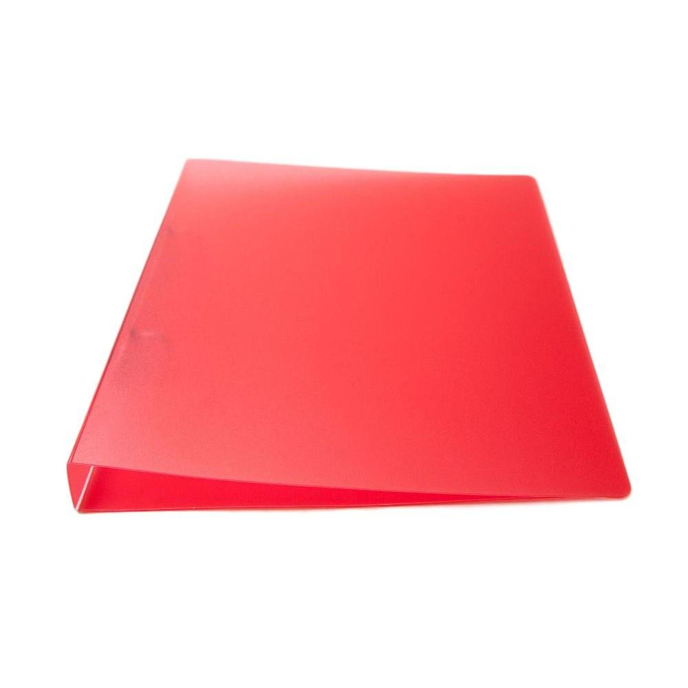 A4 Slim Red Translucent Ringbinder - Filing Ring Binder Storage