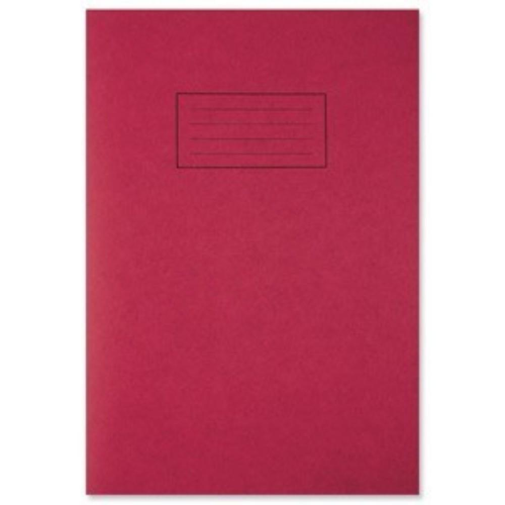 A4 Red Exercise Book - Lined with Margin