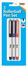 Pack of 3 Rollerball Pen Set