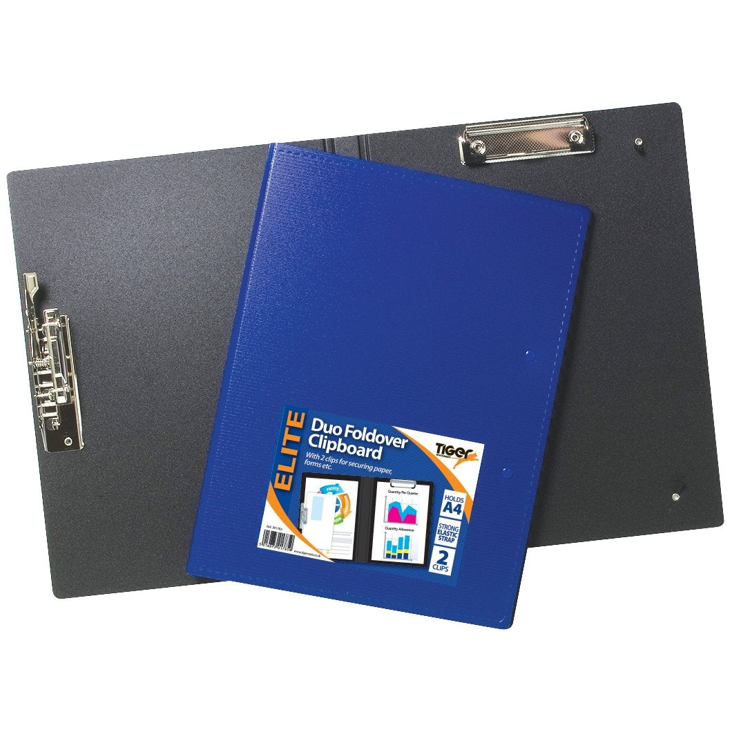 Elite Duo Foldover Clipboard A4+A3 - Clip Board File Strong Holder