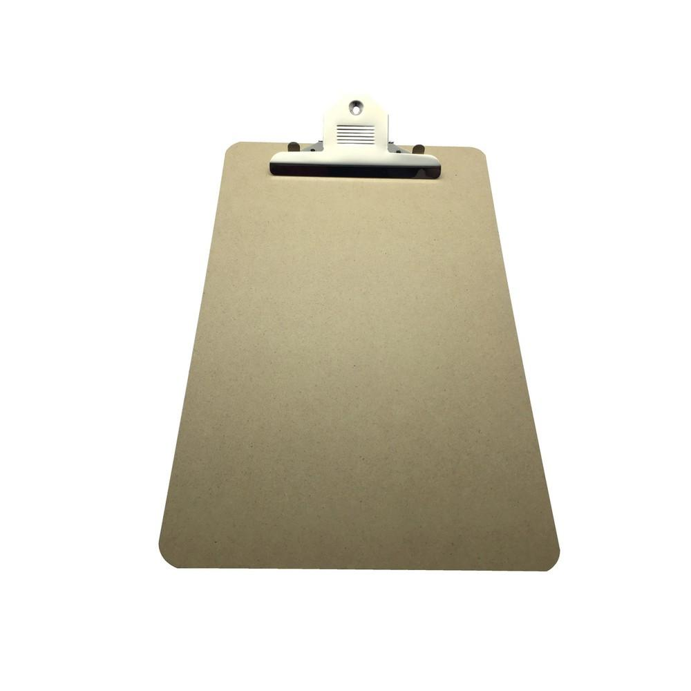 Janrax Foolscap MDF Clipboard with Butterfly Clip (A4 Plus)