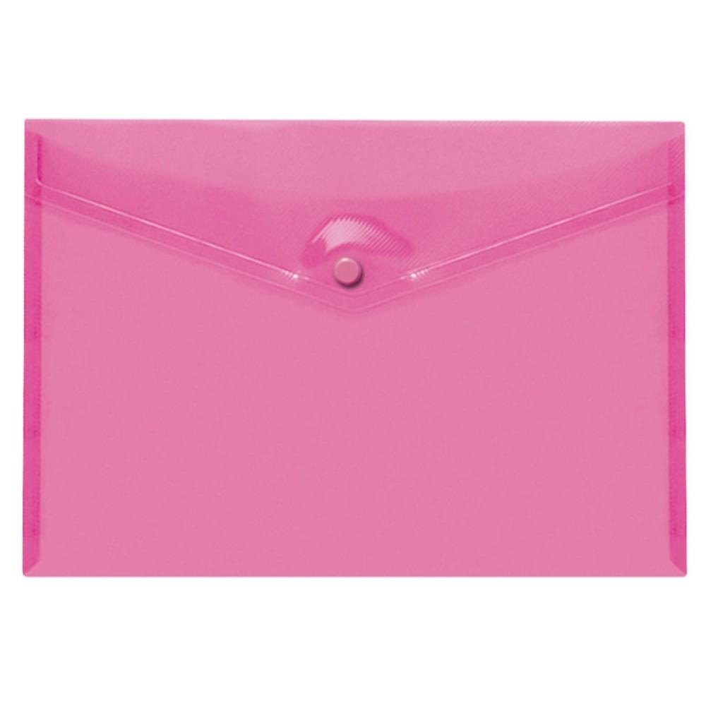Pack of 25 Pink A4+ Foolscap Stud Document Wallets