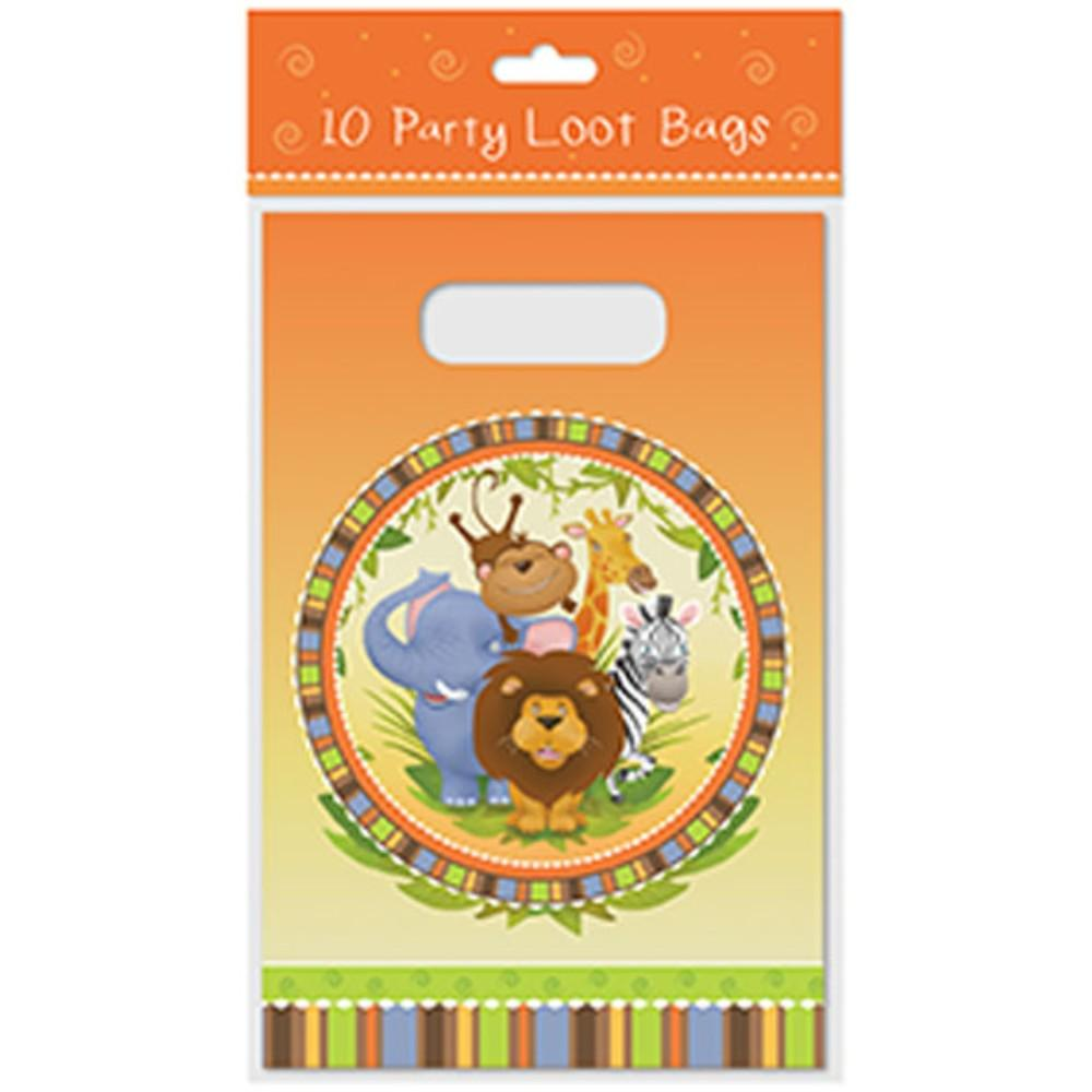 Pack of 10 Loot Bags Jungle Design