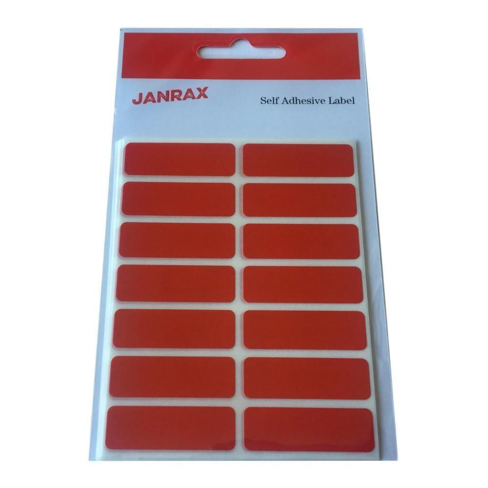 Pack of 98 Red 12x38mm Rectangular Labels - Adhesive Stickers