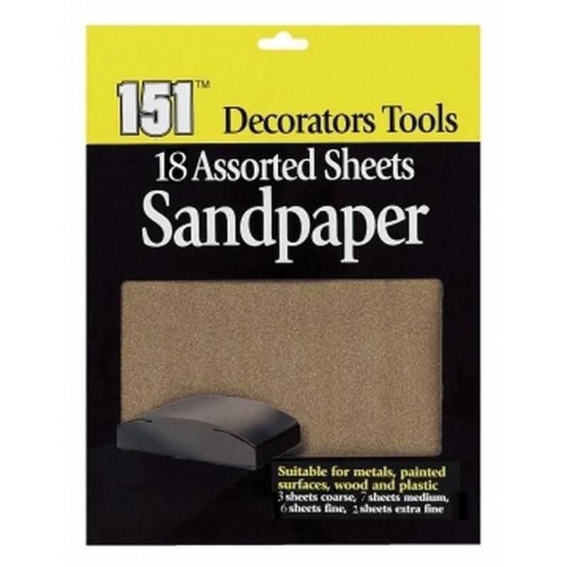 18 Assorted Sandpaper Sheets