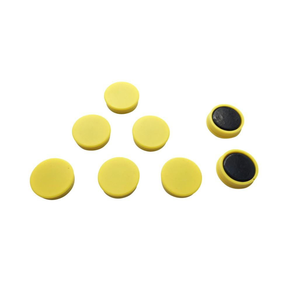 Pack of 12 Yellow 24mm Magnets