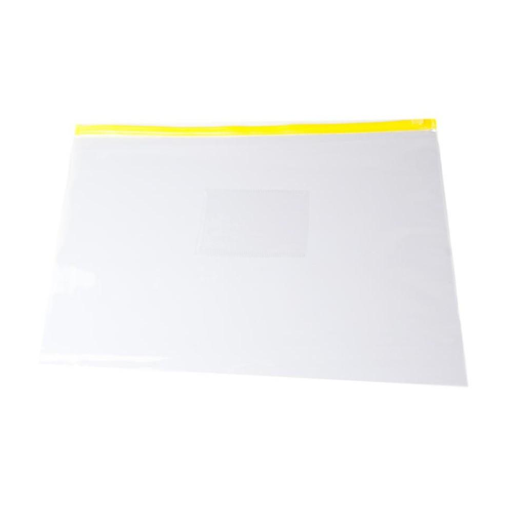 Pack of 12 A3 Yellow Zip Zippy Bags