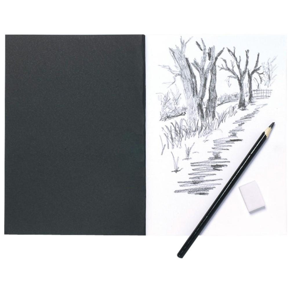 A5 Black Card Cover Sketch Book