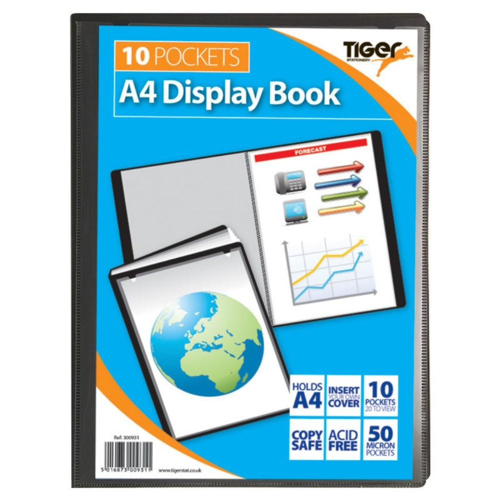 Tiger A4 10 Pocket Presentation Display Book