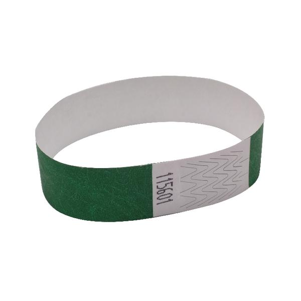 Announce Wrist Band 19mm Green (Pack of 1000) AA01834