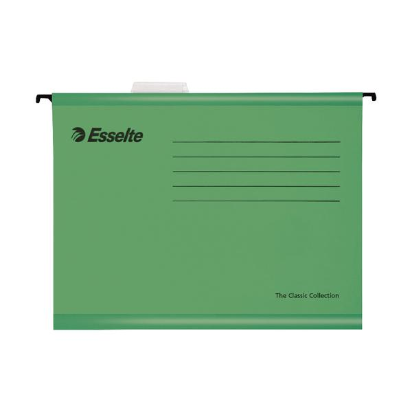 Esselte Classic Foolscap Suspension File Green (Pack of 25) 90337