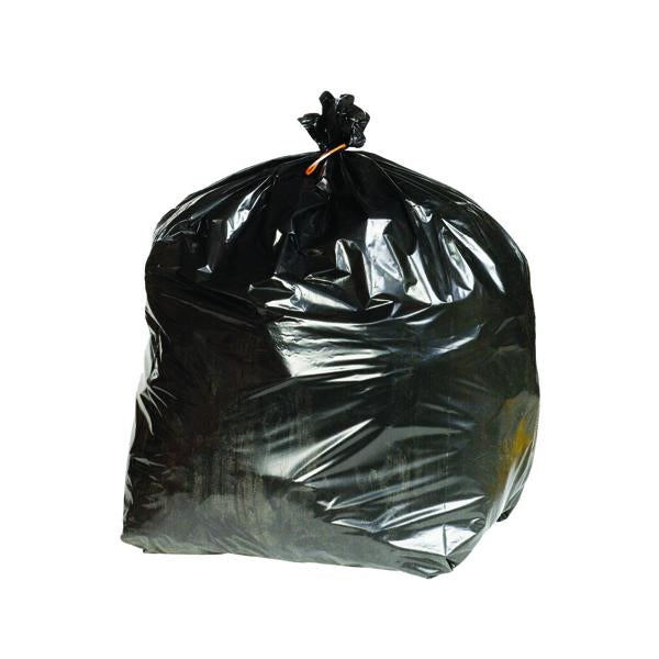 2Work Extra Heavy-Duty Refuse Sack Black (Pack of 200) KF76961