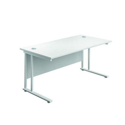 Serrion Rectangular Cantilever Desk 1500mm White KF800155