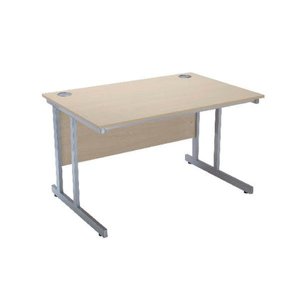Serrion Warm Maple 1500mm Rectangular Cantilever Desk KF838519