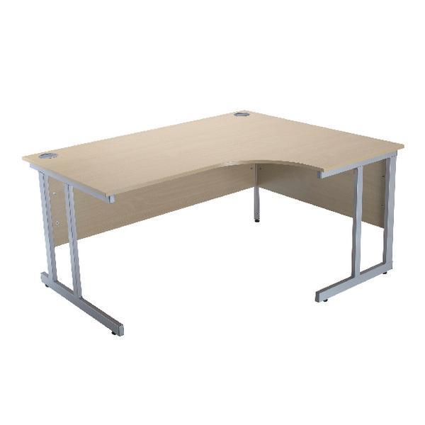 Serrion Warm Maple 1500mm Radial Right Hand Cantilever Desk KF838531