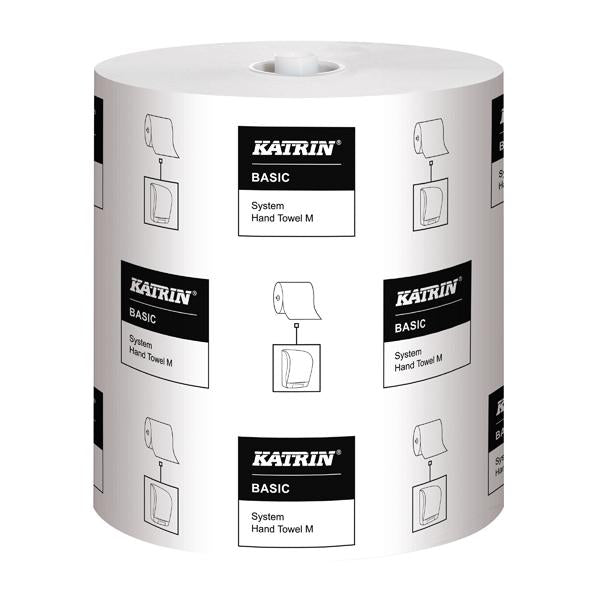 Katrin Basic System Towel M 1-Ply White (Pack of 6) 460201