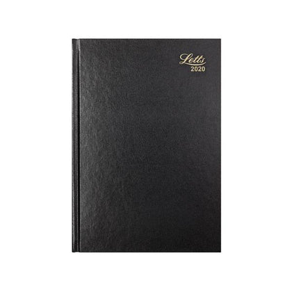 Letts Business Diary A4 Day Per Page 2020 Black 20-T11ZBK