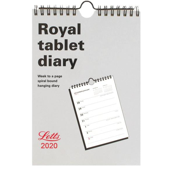 Letts Royal Tablet Calendar A5 2020 20-TRT