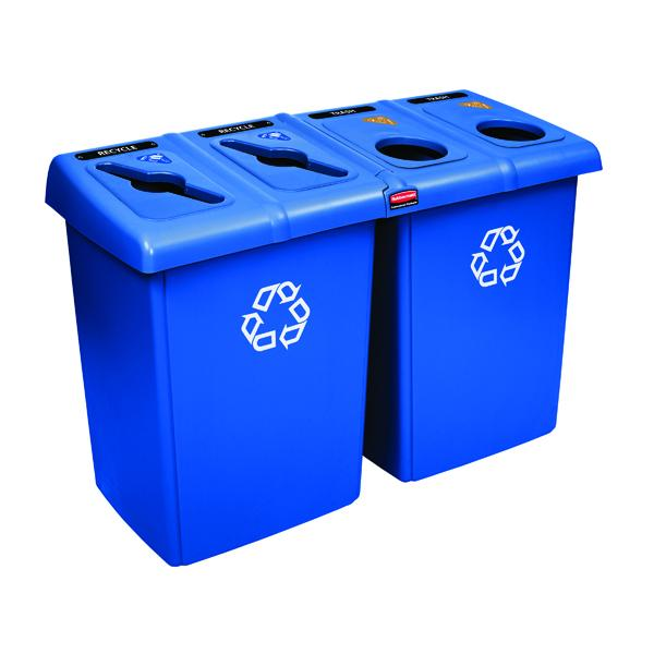 Rubbermaid Recycling Station Blue 1792372