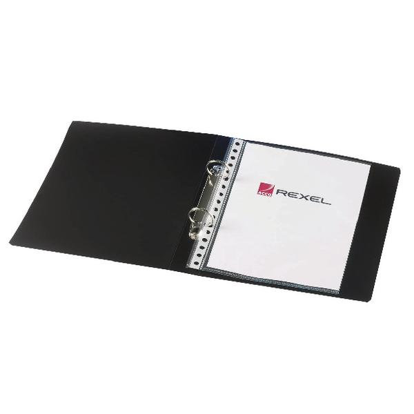 Rexel Budget 25mm 2 Ring Binder A5 Black (Pack of 10) 13428BK