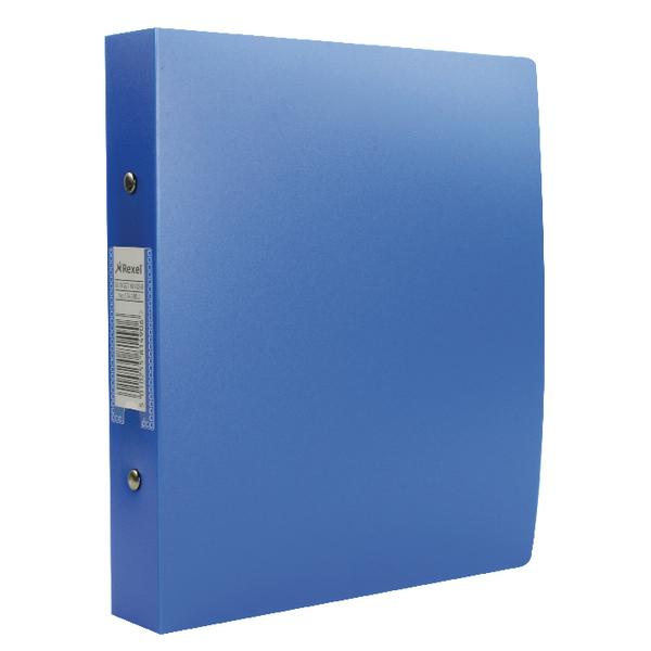 Rexel Budget 2 Ring Binder Polypropylene A5 Blue (Pack of 10) 13428BU