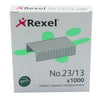 Rexel No. 23 Staples 13mm (Pack of 1000) 2101053