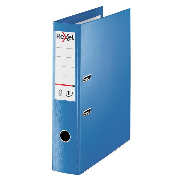 Rexel Choices 75mm Lever Arch File Polypropylene Foolscap Blue 2115512