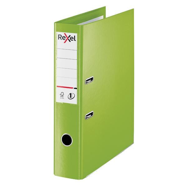 Rexel Choices 75mm Lever Arch File Polypropylene Green 2115514