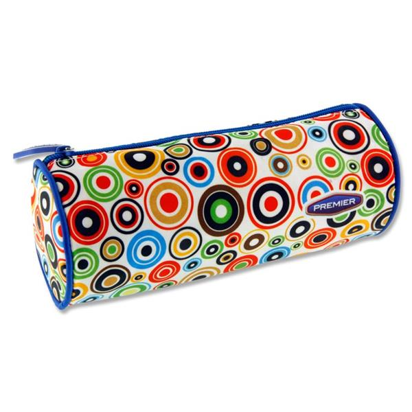 Premier Round Pencil Case - Circles